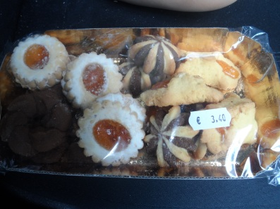 package of cookies, bought at the gas station and eaten in the car.
