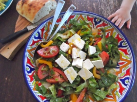 mixed salad with feta