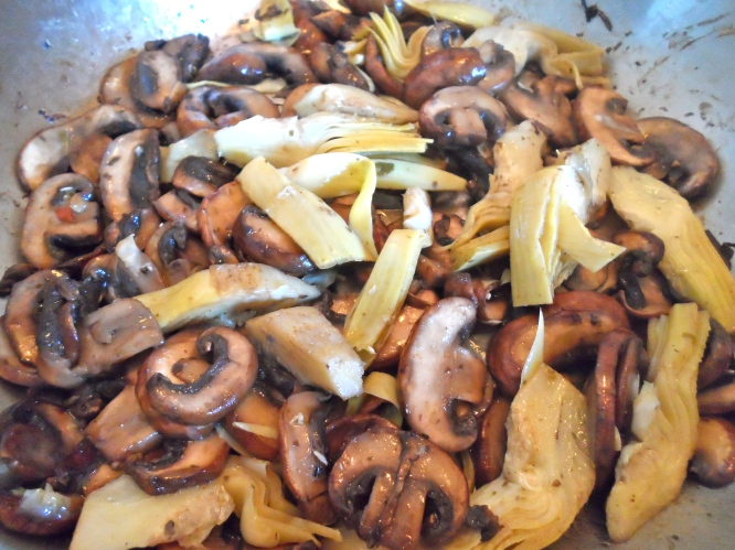 mushroom & artichoke