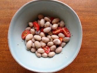 borlotti beans with tomato