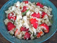 quinoa & strawberry salad