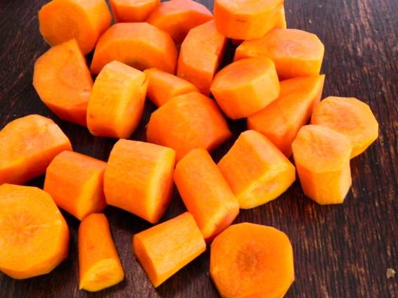 chopped carots
