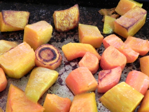 roasted carrot & squash