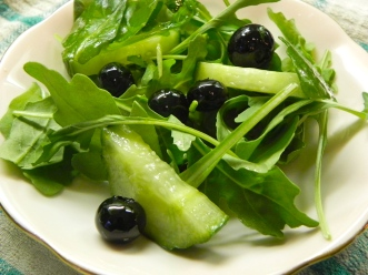 blueberry, arugula & cucumber