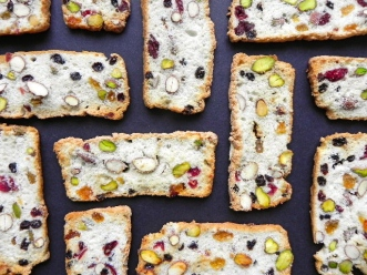 fruit & nut crostini