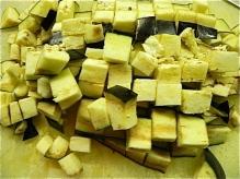 chopped eggplant