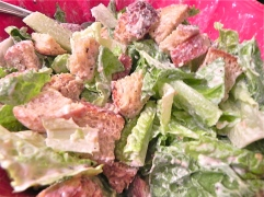 croutons in salad