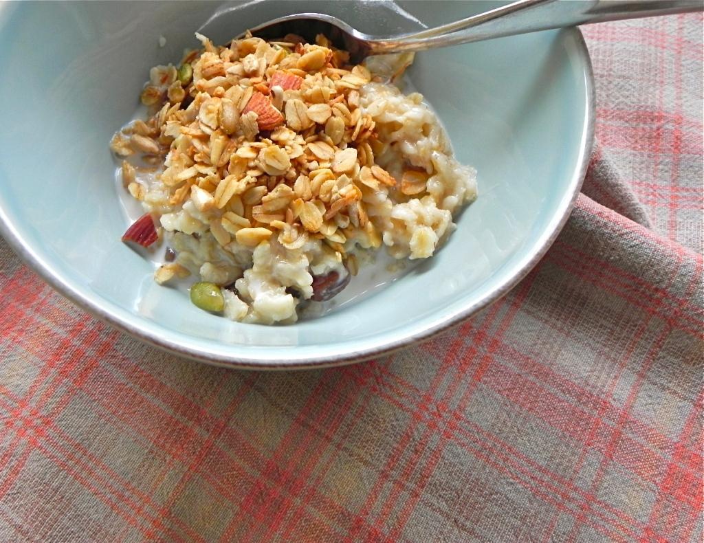 granola on oatmeal