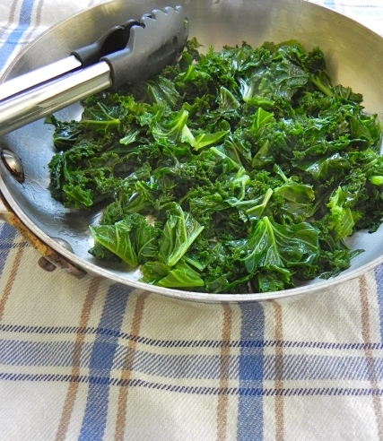 cooked greens (kale)