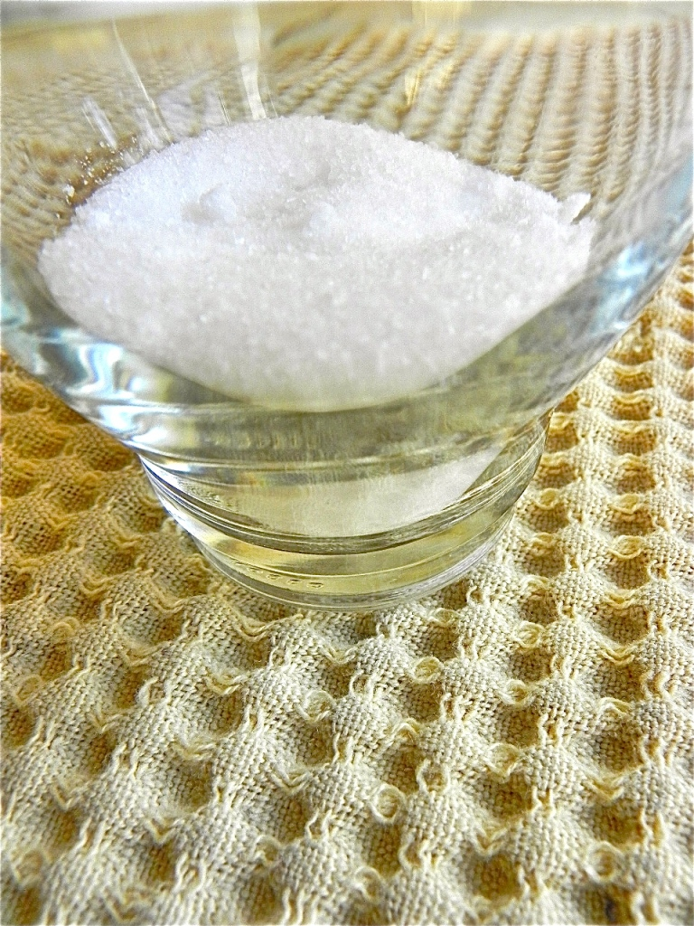 salt (in cup)