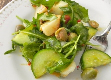 left-over potatoes turned salad