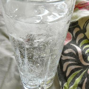 bubbly water