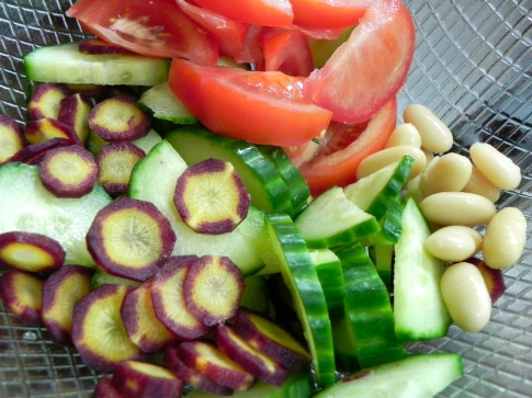 veg & beans salad base