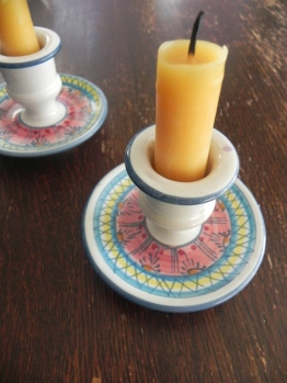 candles in holders