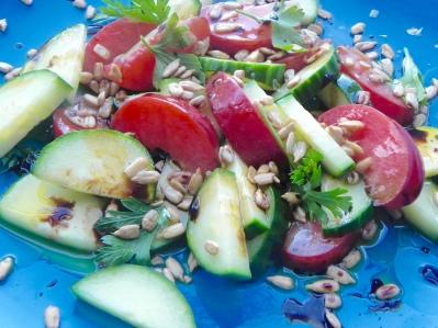 plum cucumber salad