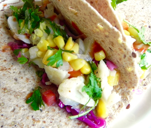 fish taco with cabbage and more