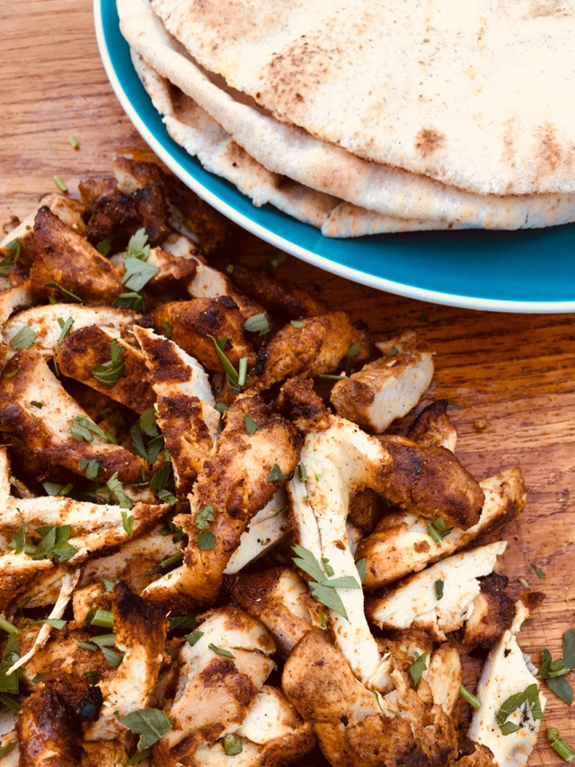 chicken shawarma with pita