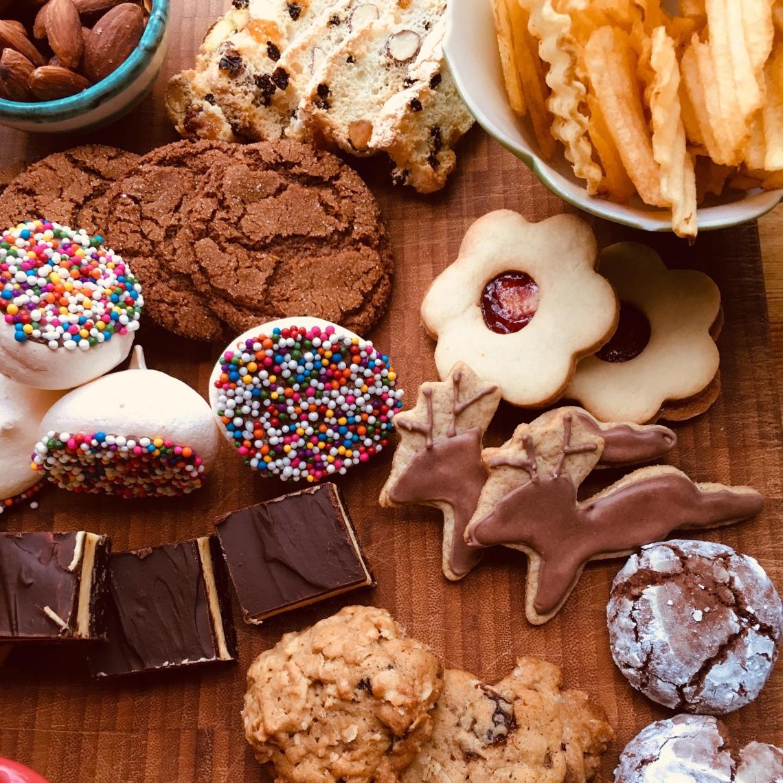 Mixed holiday baking board