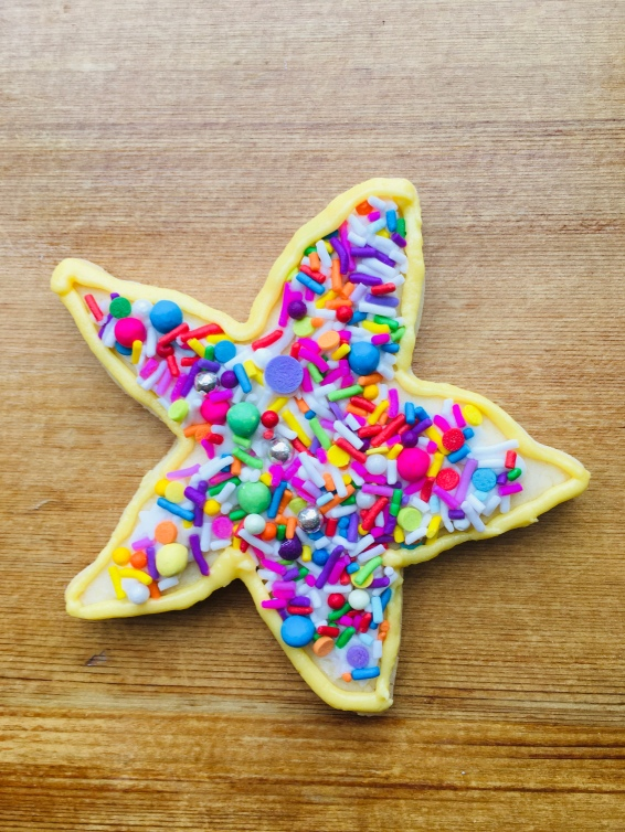 starfish cookie with multi-sprinkles mix