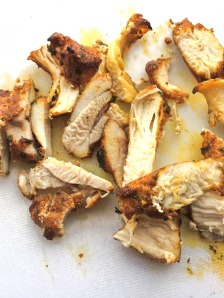 sliced pieces of chicken shawarma