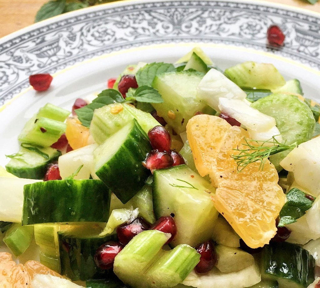 fennel clementine salad with pomegranate
