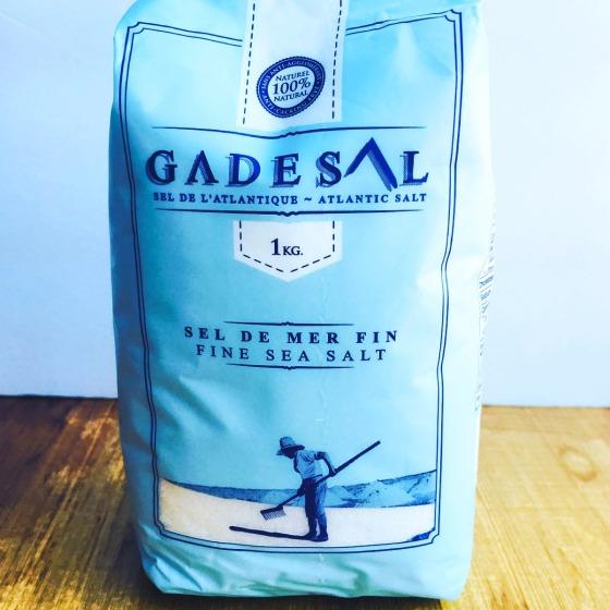 blue package of sea salt