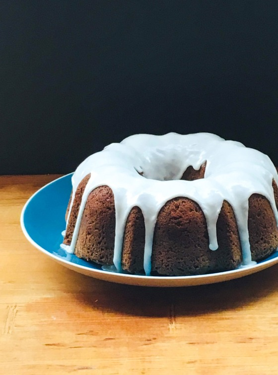 parsnip bundt cake with citrus glaze