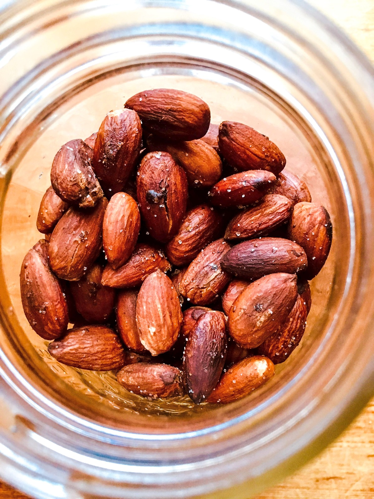 roasted almonds with salt