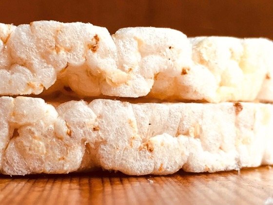 two stacked rice cakes